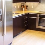 Bamboo flooring In Modern Kitchen