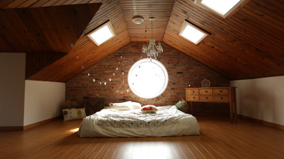 Bamboo Flooring in Attic