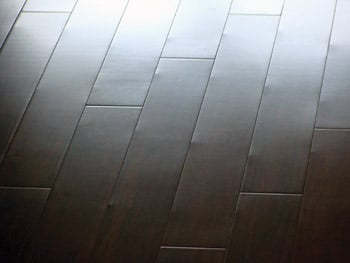 Dimpling in wood flooring