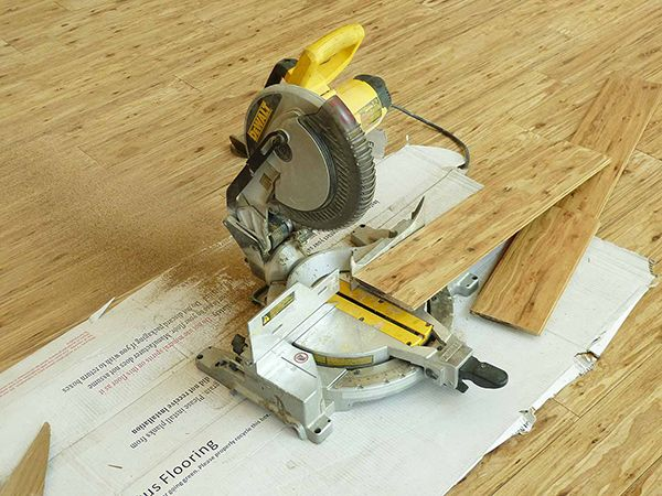 Use Miter Saw To Cut Each Plank To Poper Lengths