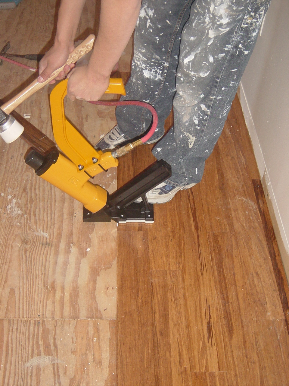 nail down installation bamboo flooring