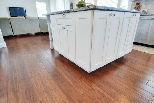 Bamboo Flooring Under Islands And Cabinets In Your Kitchen