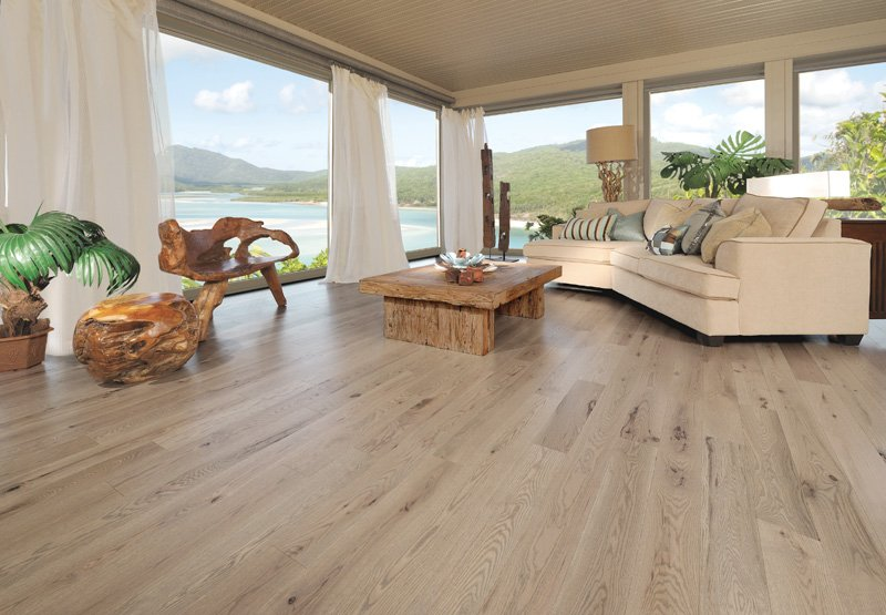 beautiful new flooring installed in coastal home