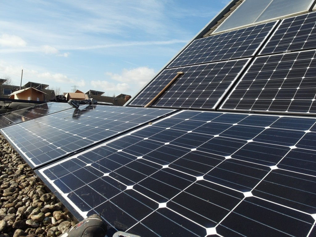 Solar panels for energy sustainability