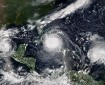 Three simultaneous hurricanes attributed to climate change