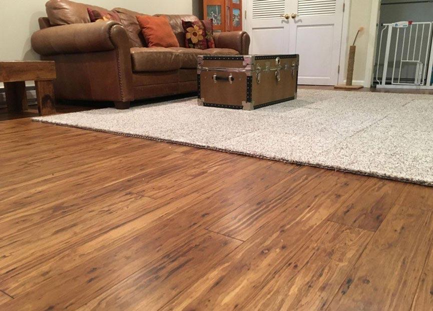 Eucalyptus flooring installation