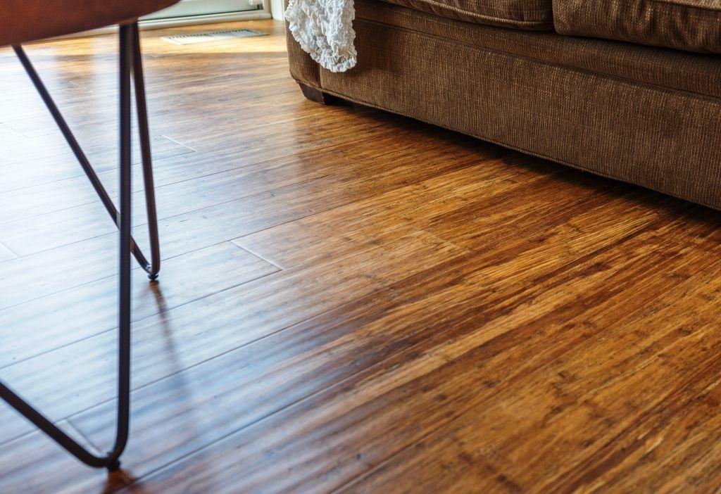 Carbonized Antiqued Bamboo Floor