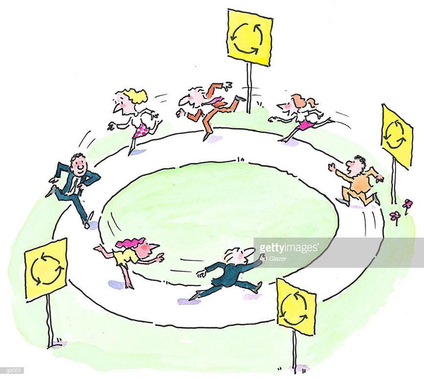 Running round in circle