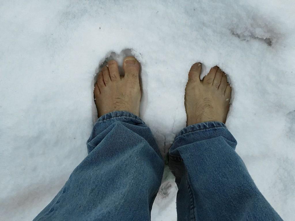 It's like walking on ice...
