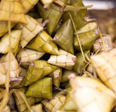 bamboo woven into baskets