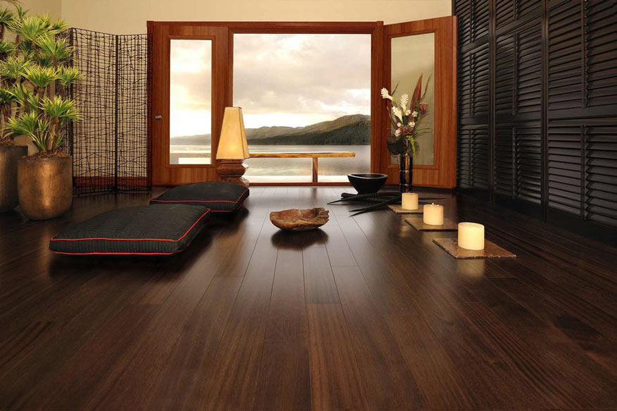 image showing indoor of an house with a focurs on the bamboo flooring
