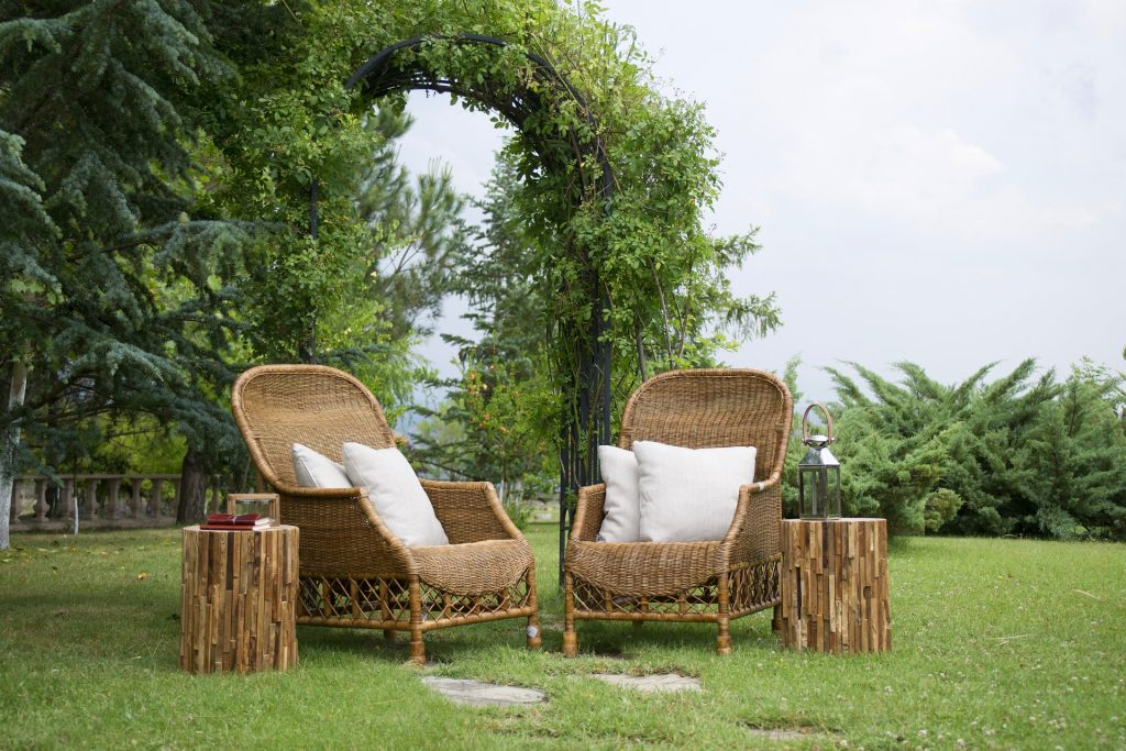 Bamboo garden chairs