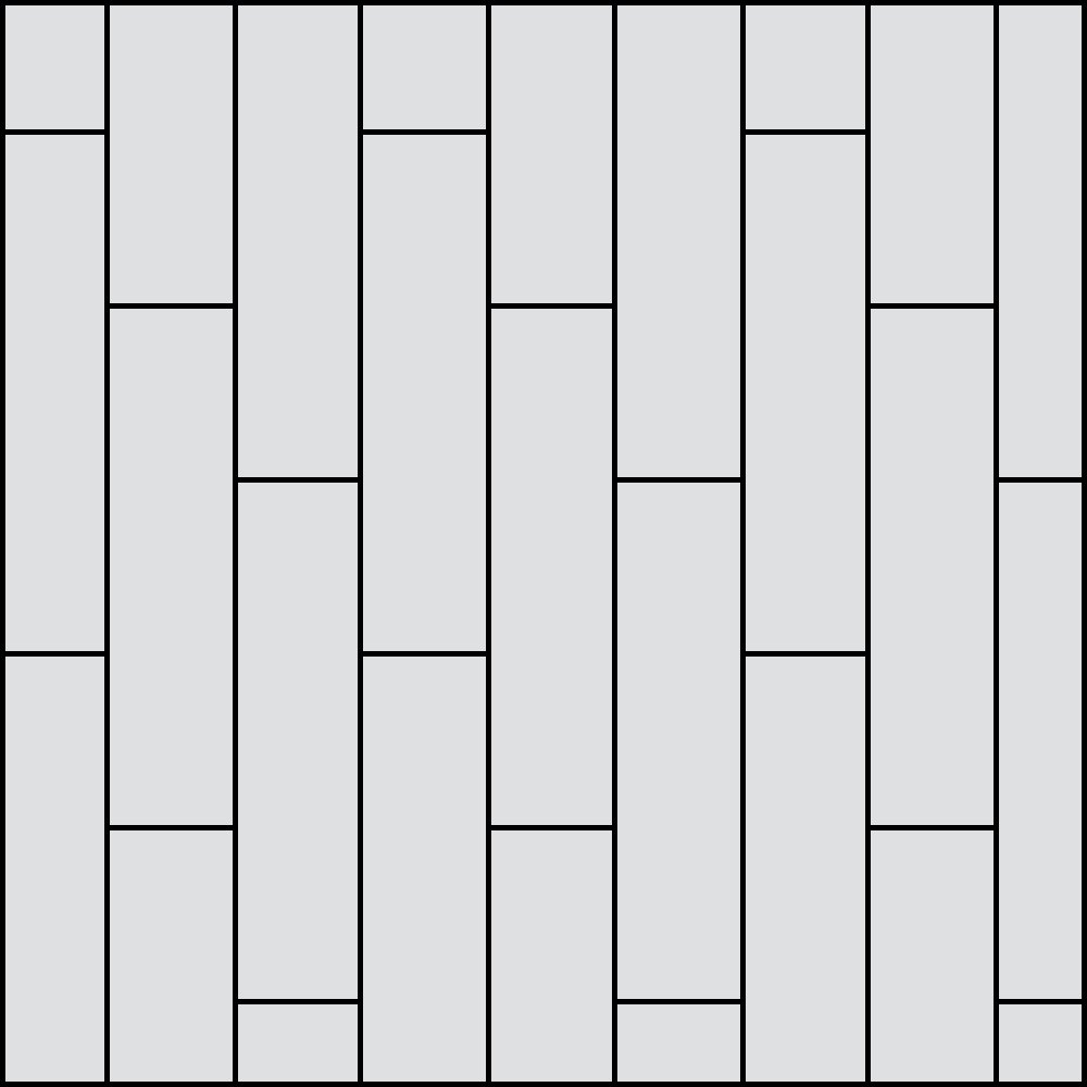 Stair Step Plank Pattern