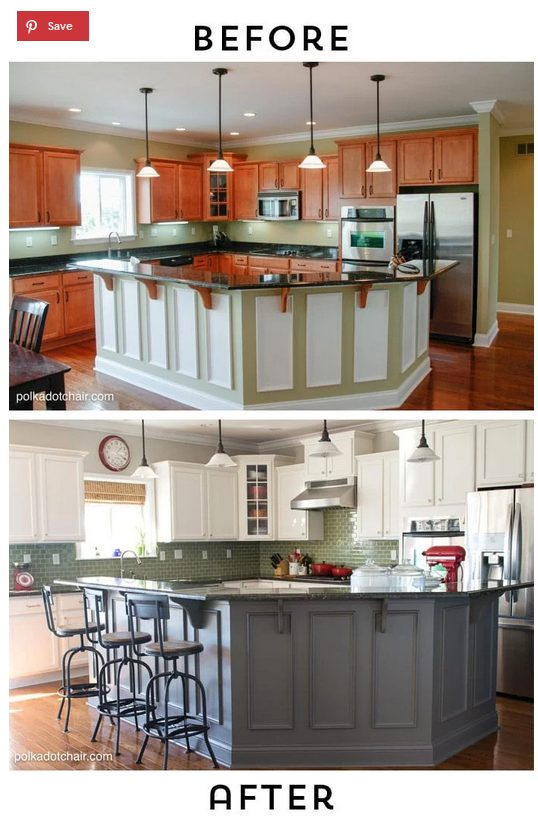 before and after painting kitchen cabinets an intermediate DIY kitchen project