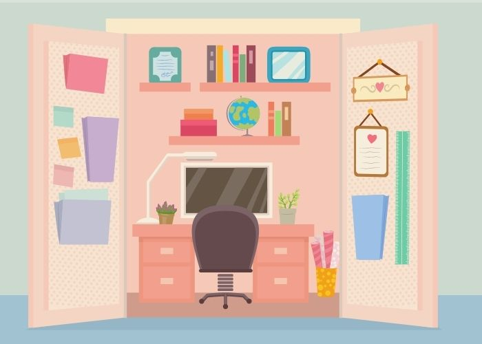 Turn Closet Into Home Office