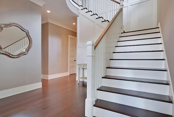 ANTIQUED CARBONIZED BAMBOO STAIR TREADS