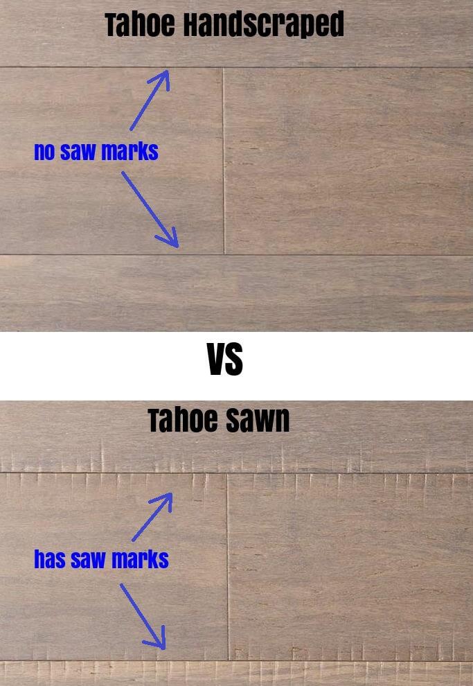 Tahoe Sawn VS Tahoe Handscraped Bamboo Floor