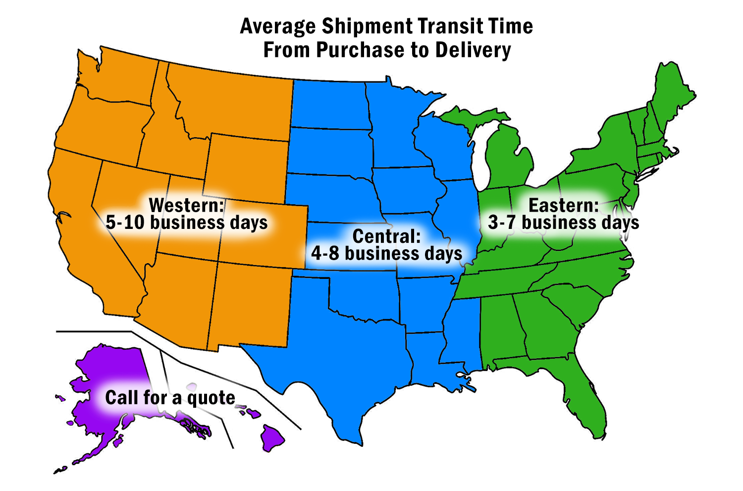 Freight Transit Times Map