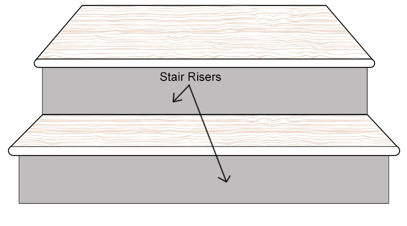 bamboo stair riser up board diagram