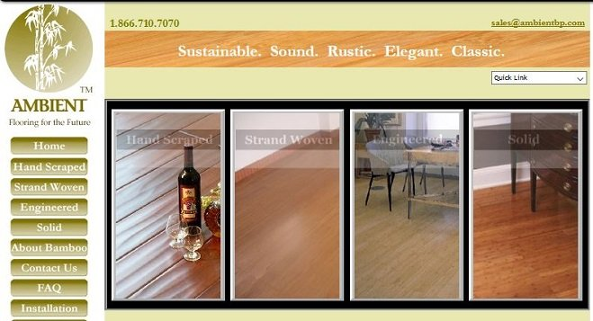 Ambient Bamboo Floors Website in 2005