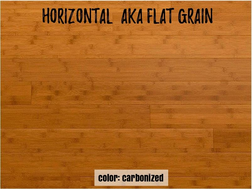 carbonized horizontasl grain appearance