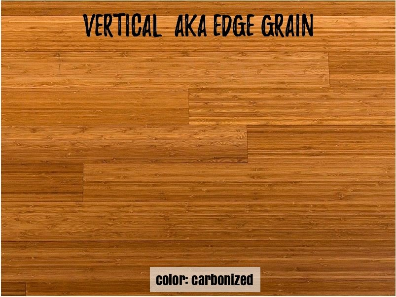 carbonized vertical grain appearance