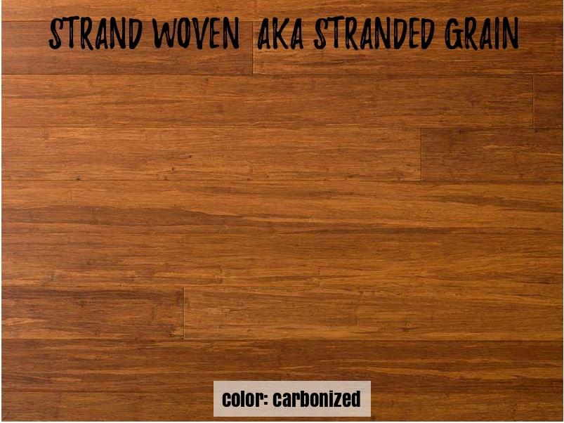 strand woven bamboo grain appearance