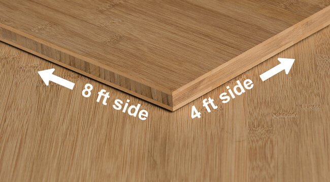 carbonized horizontal flat grain bamboo plywood sheet angle