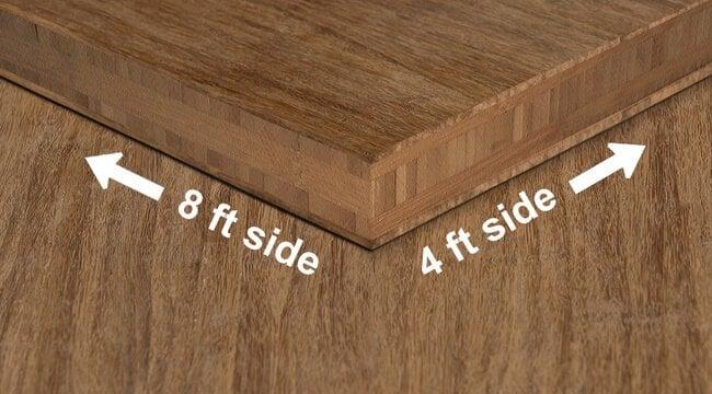 strand woven carbonized unfinished bamboo plywood hardwood sheet angle