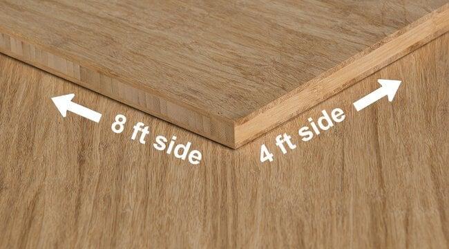 ... Stranded Natural Unfinished Bamboo Hardwood Plywood Sheet Angle ...