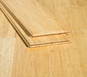 natural wide plank strand bamboo glue down floor
