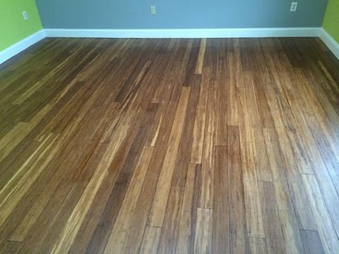 final refinished bamboo floor