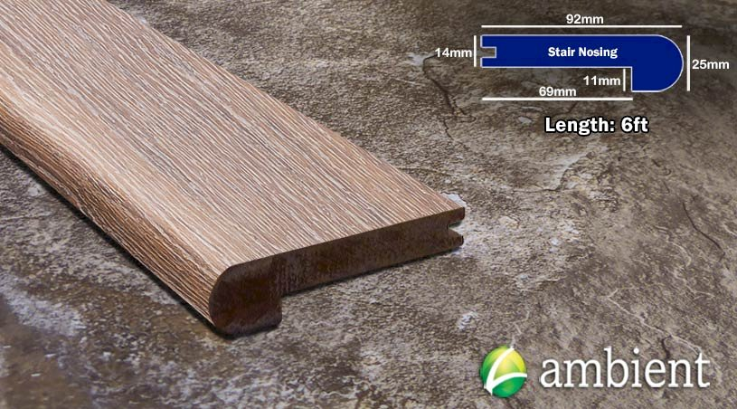 Hewn Fog Bamboo Stair Nose