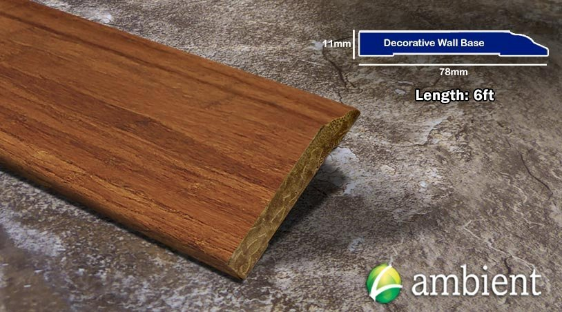 Decorative Wall Base Solid Base Board Bamboo Carbonized