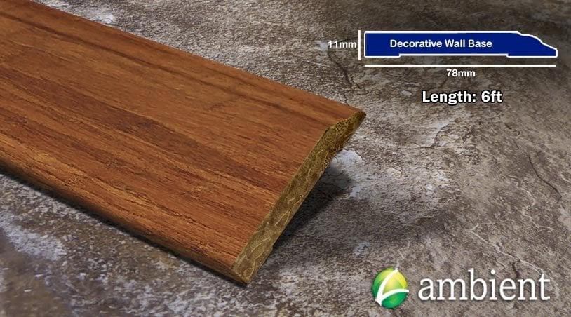 Carbonized Strand Bamboo Decorative Baseboard