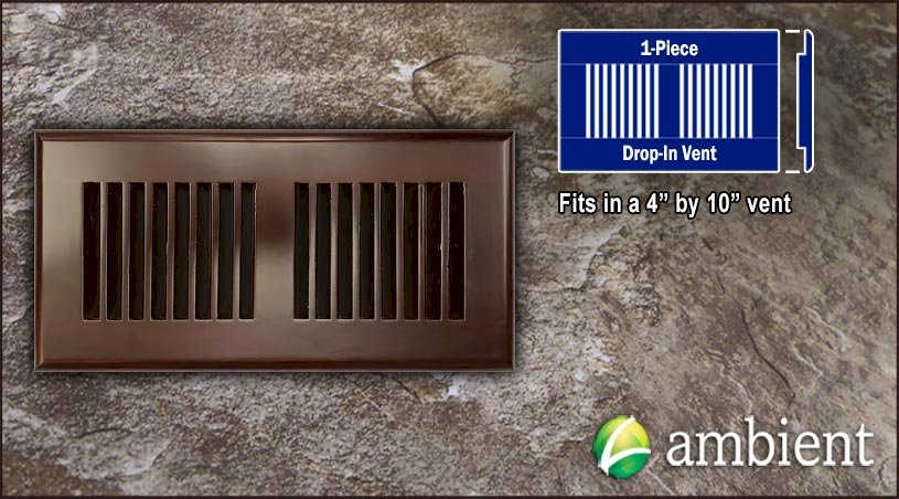Drop In Bamboo Register Vent4x10 Espresso