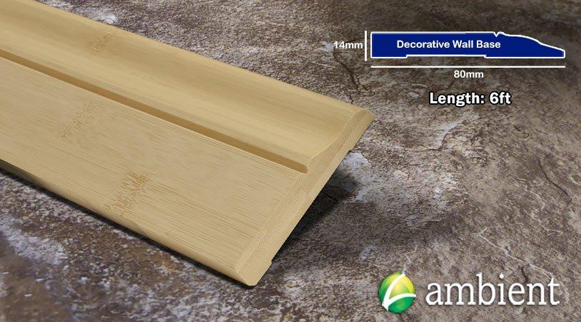 Horizontal Bamboo Baseboard Wallbase Natural Decorative