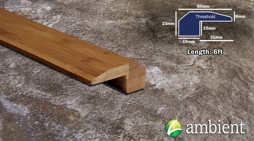 Horizontal Bamboo Threshold Endcap Carbonized