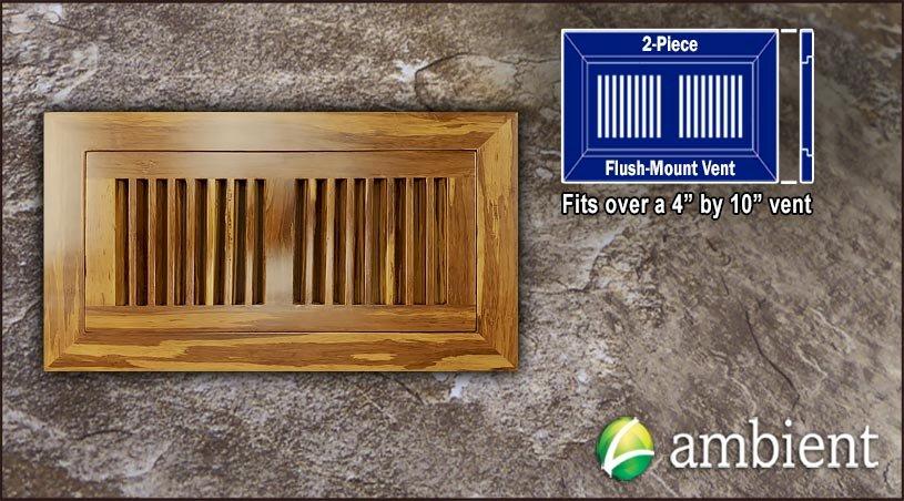 Register Vent Flush Mount Bamboo4x10 Tiger