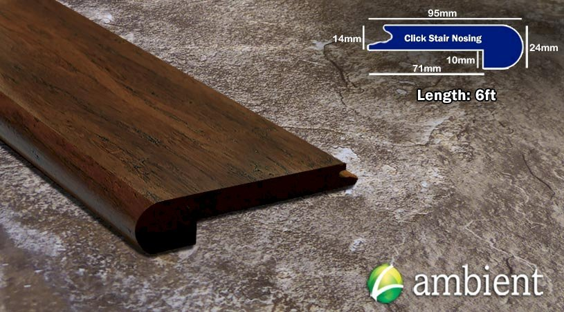 Strand Bamboo Click Stair Nosing Toasted Almond33