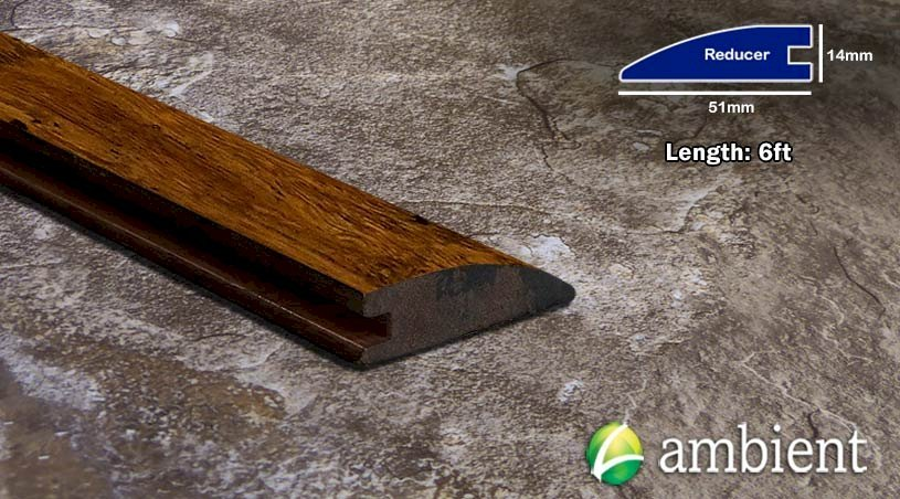 Strand Bamboo Reducer Transition Carbonized Antiqued