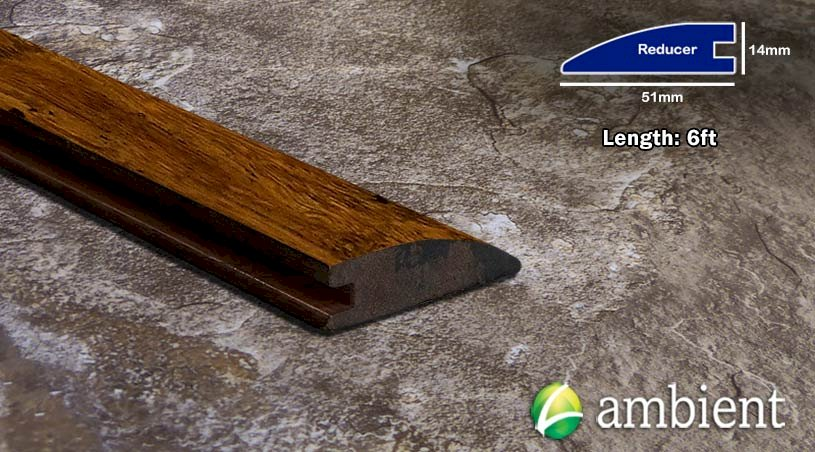 Carbonized Antiqued Distressed Bamboo Reducer
