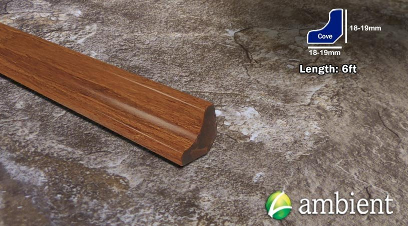 Strand Bamboo Stair Cove Molding Carbonized8283