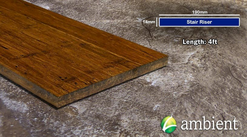 Carbonized Antiqued Bamboo Stair Riser