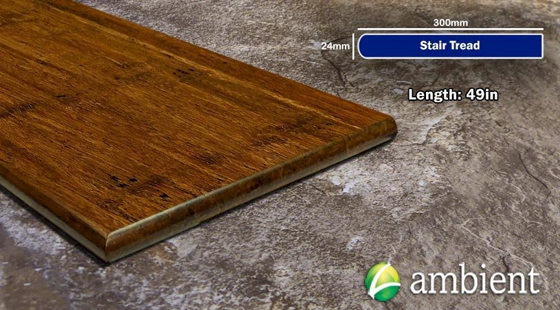 Strand Bamboo Stair Tread49inch Carbonized Antiqued