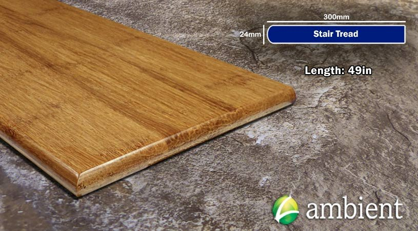 Strand Bamboo Stair Tread49inch Carbonized Light