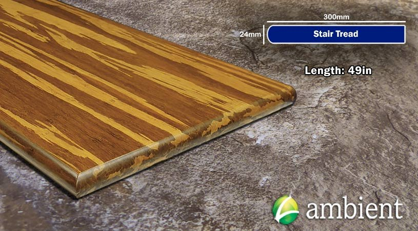 Strand Bamboo Stair Tread49inch Tiger