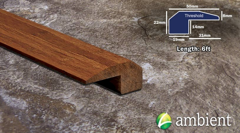 Strand Bamboo Threshold Endcap Carbonized