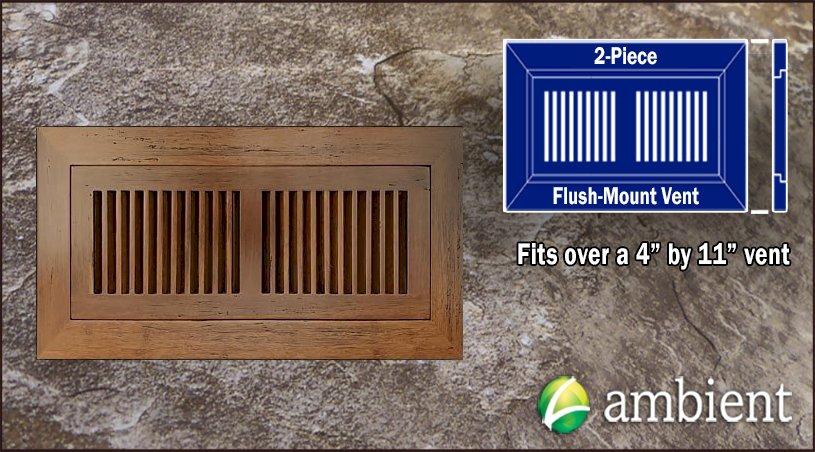 Vent Flush Mount Bamboo4x11 Carbonized Antiqued