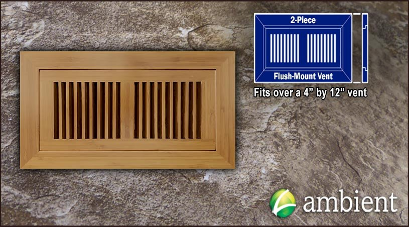 Vent Flush Mount Vertical Bamboo4x12 Carbonized